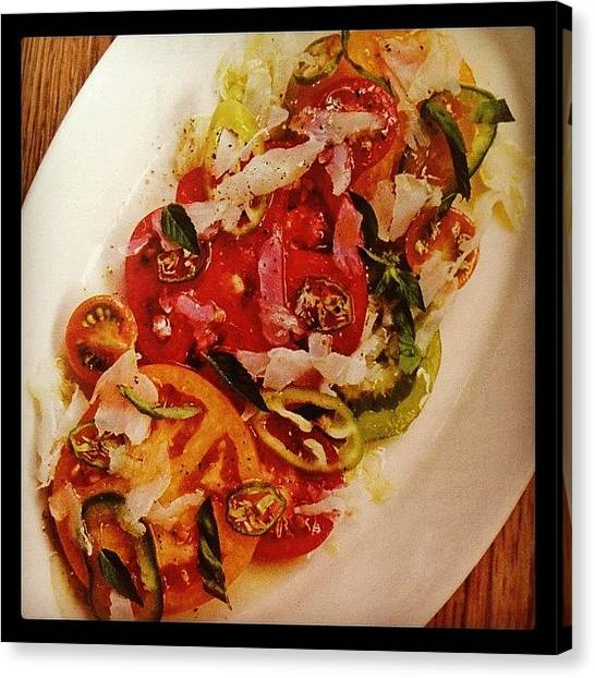 Vegetarian Canvas Print - #tomato Salad At Rucola In #brooklyn by Bryce Gruber