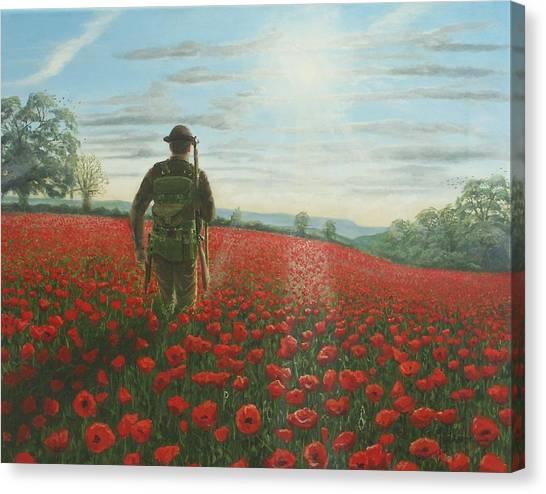 The Legion Canvas Print - Tommy 2 by Richard Harpum