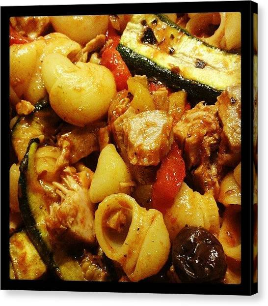 Pepper Canvas Print - Tonight's Special Pasta Recipe by Marino Todesco