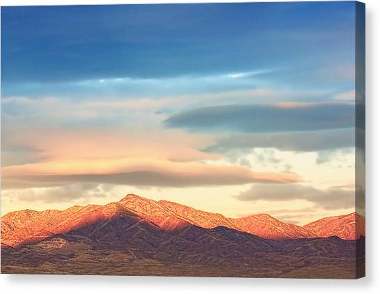 Tooele County Mountains At Sunrise Canvas Print