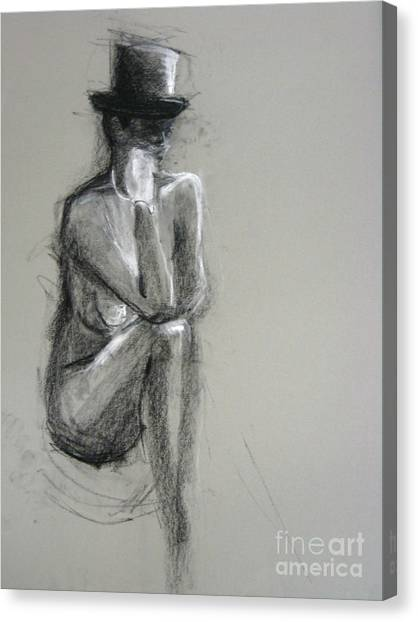 Canvas Print featuring the drawing Top by Gabrielle Wilson-Sealy