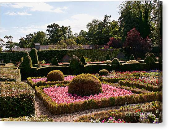 Topiary And Flower Beds 2 Canvas Print