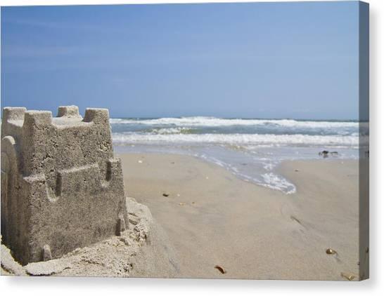 Sand Castles Canvas Print - Topsail Castle by Betsy Knapp