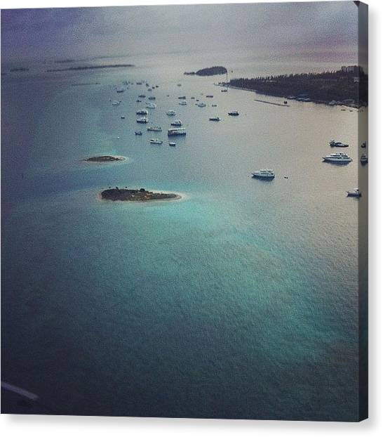 Seaplanes Canvas Print - #topview #lagoon #seaplane #boats by Mohamed Shafy