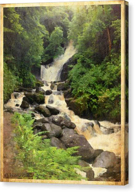 Torc Waterfall In Ireland Canvas Print