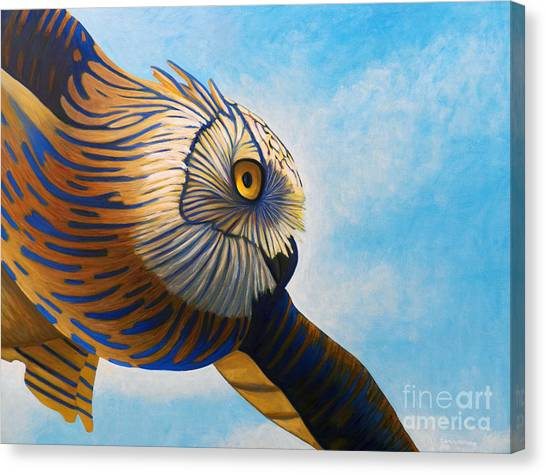Owls Canvas Print - Torchwood by Brian  Commerford