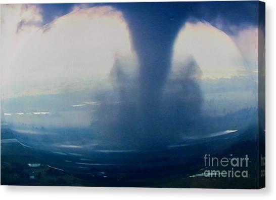 Tornado Destruction In 3d Canvas Print
