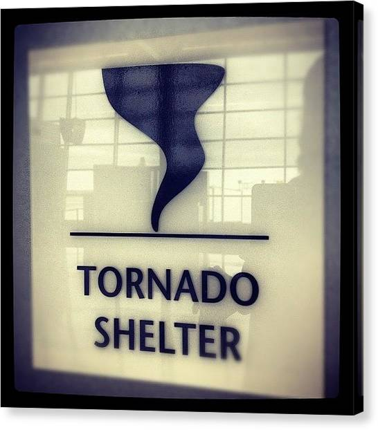 Tornadoes Canvas Print - #tornadoshelter I'm Obsessed! by Todd Davis
