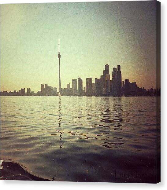Toronto Skyline Canvas Print - Toronto... by Alexandra Cook