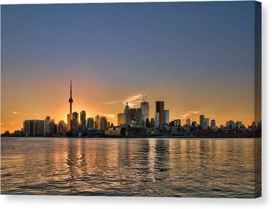 Toronto At Sunset Canvas Print