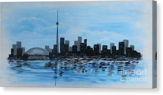 Toronto Cn Tower Canvas Print