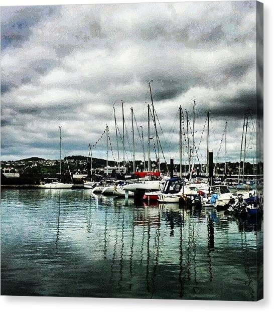 Marinas Canvas Print - #torquay #devon #southwest #soft_tones by Rachel Lavender