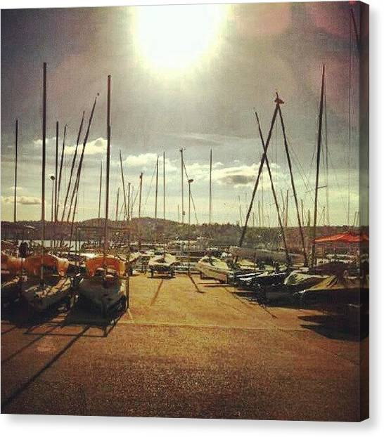Marines Canvas Print - #torquay #harbour #towndock #marine by Rachel Lavender