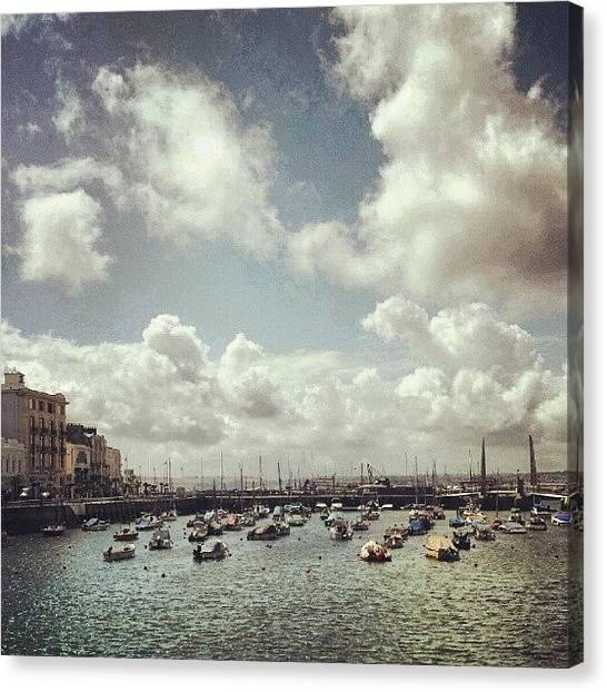 Marines Canvas Print - #torquay #torbay #towncentre #townscape by Rachel Lavender