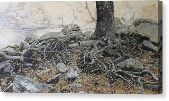 Tough Tree Canvas Print by Yuri Ozaki