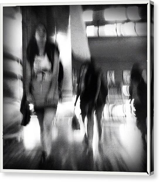 London Tube Canvas Print - Tourist #inthesubway #metro #madrid by Geovanny Ardila