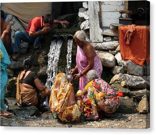 Tourists Getting Ready Canvas Print by Anand Swaroop Manchiraju