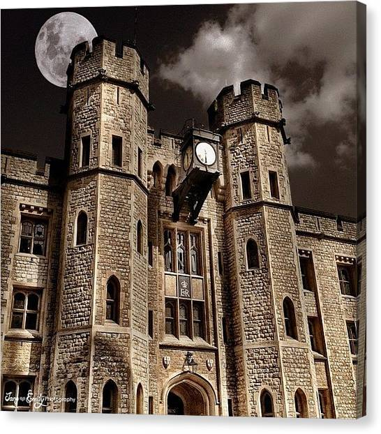 Tower Of London Canvas Print - Tower Of London by Jane Emily