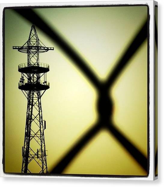 Power Canvas Print - #tower Of #power. #powerline by Robbert Ter Weijden