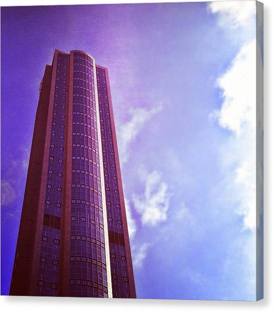 Israeli Canvas Print - #tower #skyscraper #tall #building by Alon Ben Levy