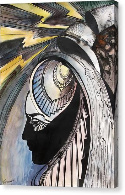 Tower Tarot Canvas Print by Valentina Plishchina