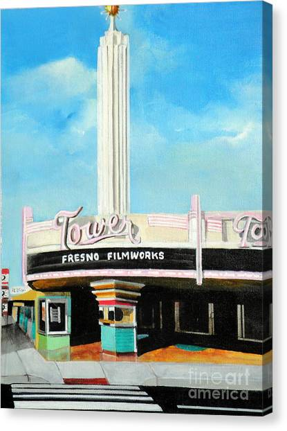 Tower Theater Fresno Canvas Print
