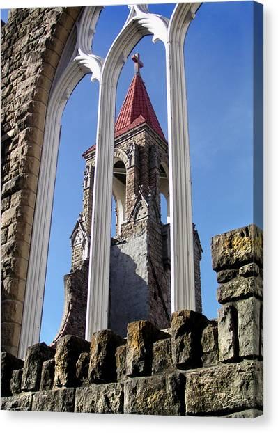 Tower Through The Window Canvas Print