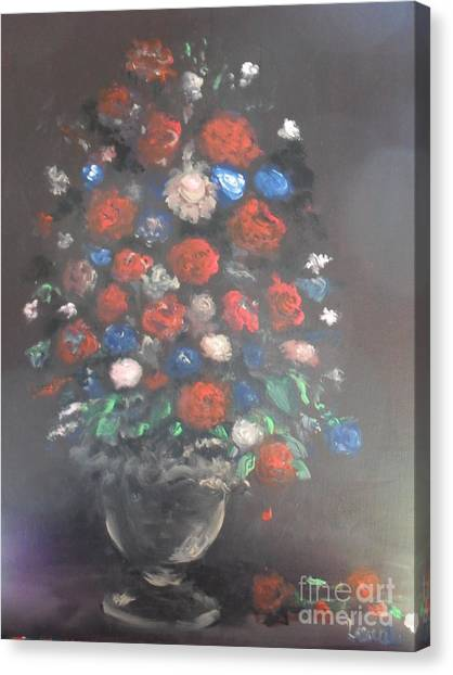 Towering Bouquet Canvas Print