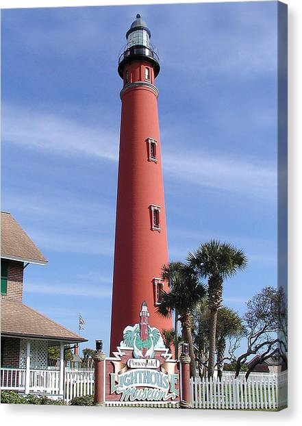 Towering Lighthouse Canvas Print