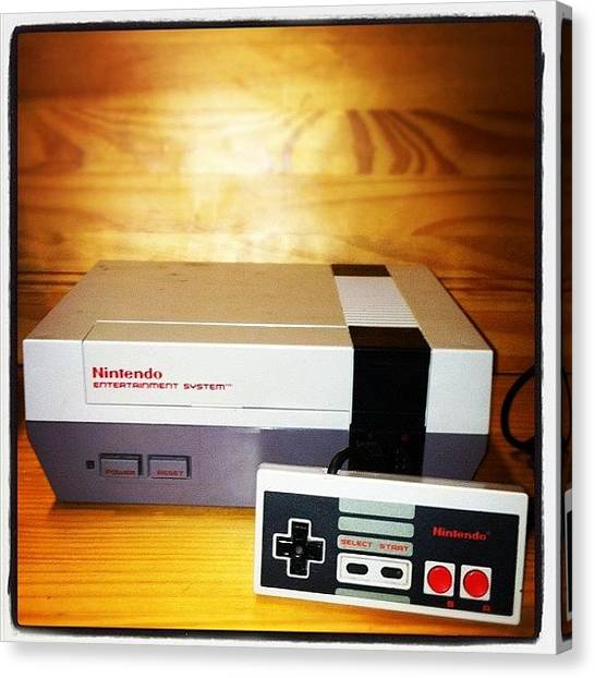 Gaming Consoles Canvas Print - #toy #marchphotoaday Nes by Rob Beasley