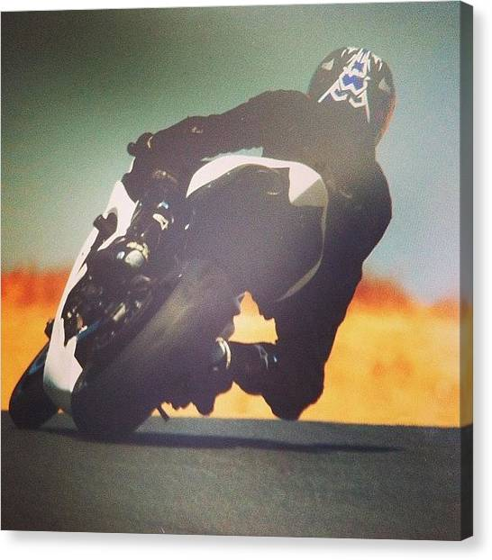 Yamaha Canvas Print - Track Day At Sonoma Raceway Turn 2 #r1 by Jeff Link