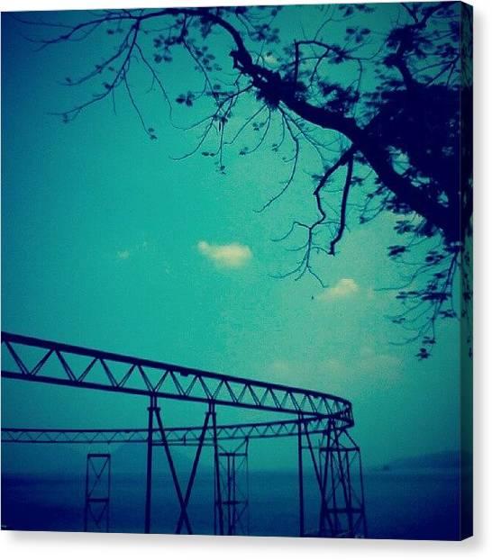 Shakira Canvas Print - #track #tree #lake #sky #blue by Inas Shakira