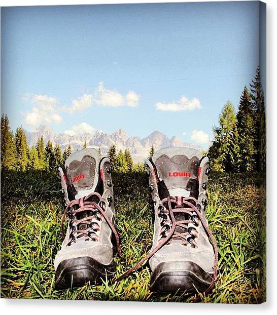 Dolomites Canvas Print - Tracking by Luisa Azzolini