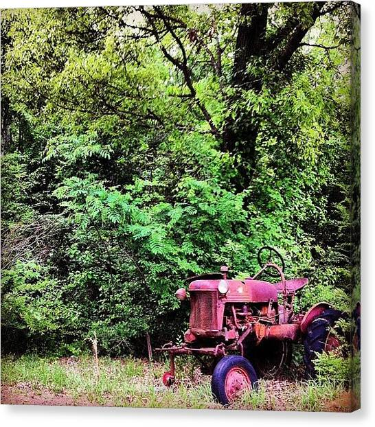 Tractors Canvas Print - #tractor #old #oldtimey #photography by Dallas Pollard