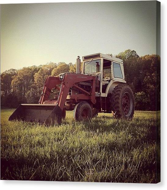 Tractors Canvas Print - Tractor Up At Goochland by Rob Beasley