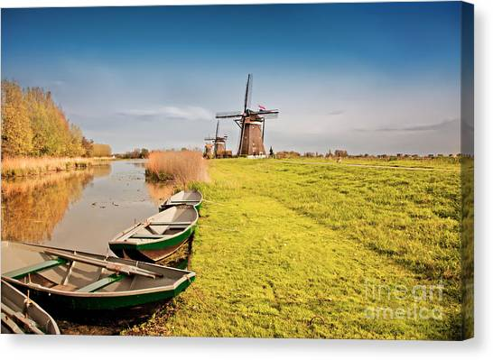Traditional  Dutch Landscape Canvas Print