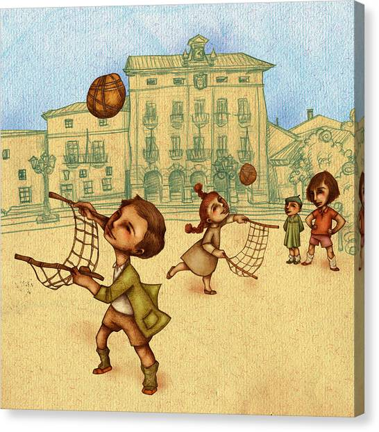 Traditional Game 2 Canvas Print by Autogiro Illustration