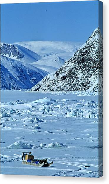 Sleds Canvas Print - Traditional Komatik, Grise Fiord by Robert Postma