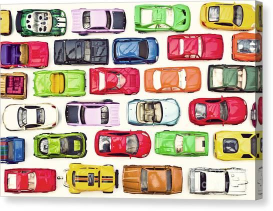 Traffic Jam Canvas Print by Catherine MacBride