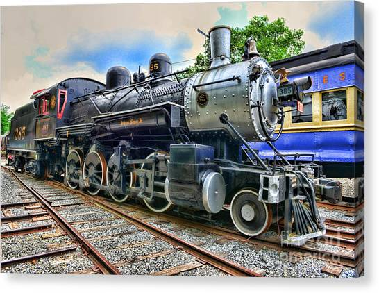 Train Conductor Canvas Print - Train - Steam - 385 Fully Restored by Paul Ward
