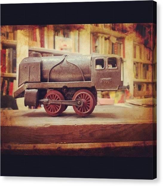 Locomotive Canvas Print - Train by Giuseppe Anello