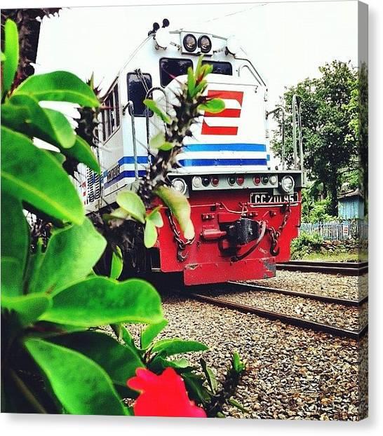 Locomotive Canvas Print - #train #locomotive #instagram #instago by Remy Asmara
