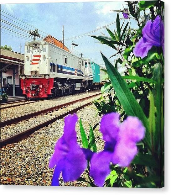 Locomotive Canvas Print - #train #locomotive #iphone4cdma by Remy Asmara