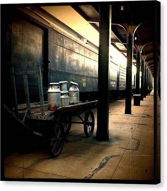 Milk Canvas Print - Train by Nathalie Brouard