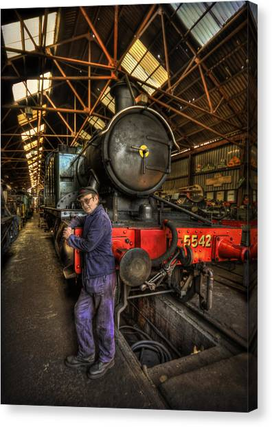 Old Train Canvas Print - Train Of Thoughts by Evelina Kremsdorf