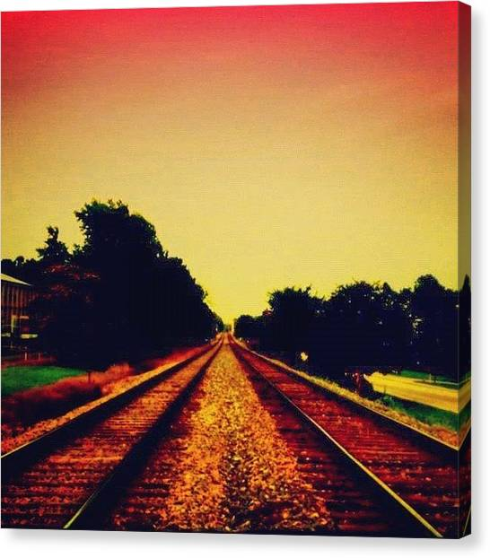 Trains Canvas Print - Train Tracks by Katie Williams