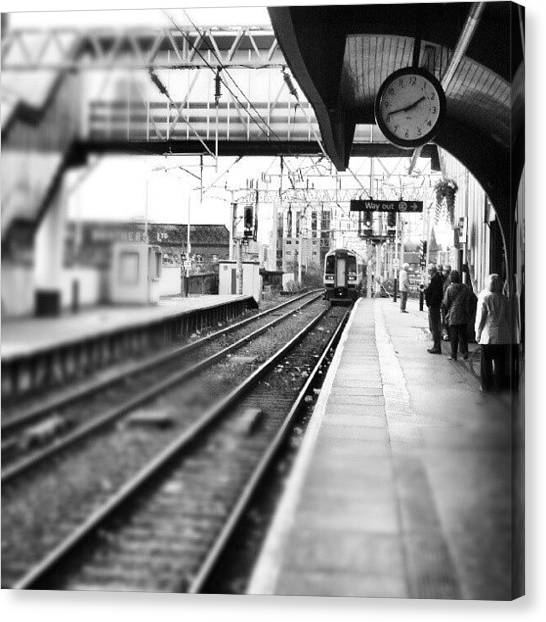 Trains Canvas Print - #train #trainstation #station by Abdelrahman Alawwad