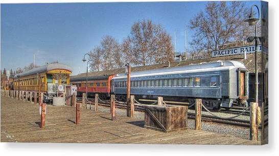 Trains Canvas Print by Barry Jones