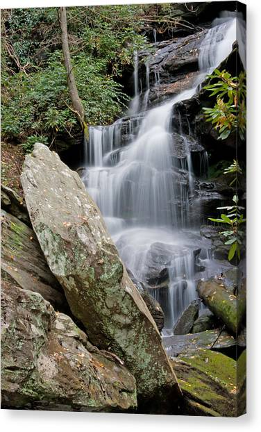 Tranquil Waterfall Canvas Print