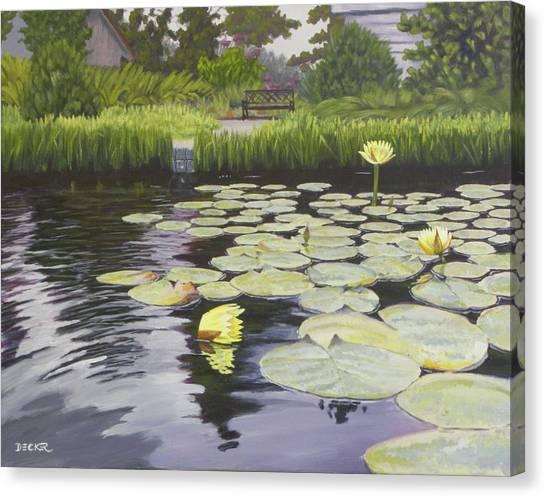 Tranquility Furman Botanical Garden Canvas Print